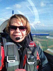Catherine Maunoury, un selfie lors d'un convoyage
